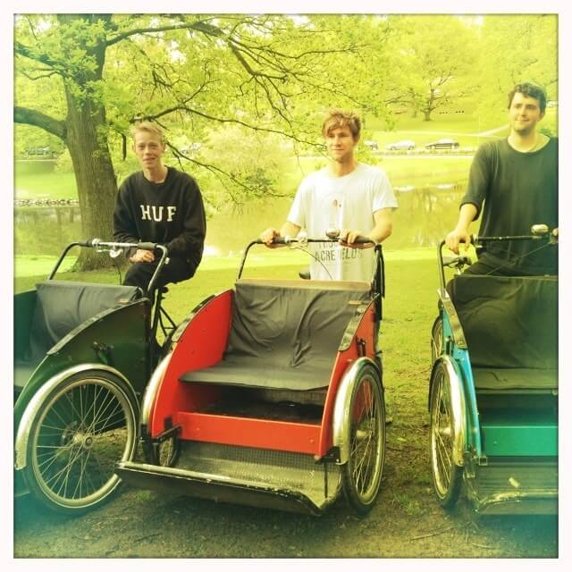 Cykeltaxaer som bryllupstransport