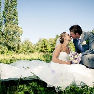 Brudepar i det fri
