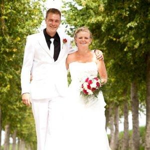 Bryllupsfoto i det grønne