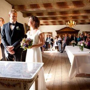 Brudepar på den store dag - Bryllupsfotografer