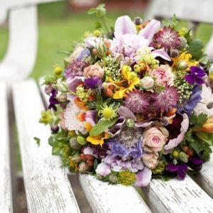 Brudebuket - Bryllupsfoto