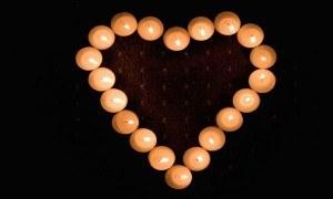 stearinlys hjerte