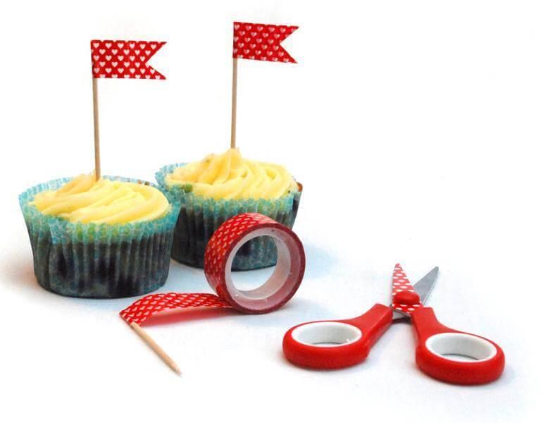 Nemme Cupcakes flag til brylluppet