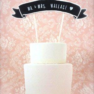 Ti fredagsfavoritter: Bryllupskagefigur fra The Paper Walrus på Etsy.com