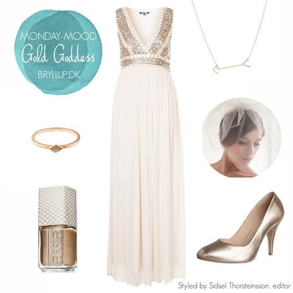 Brudekjole i græsk gudinde stil