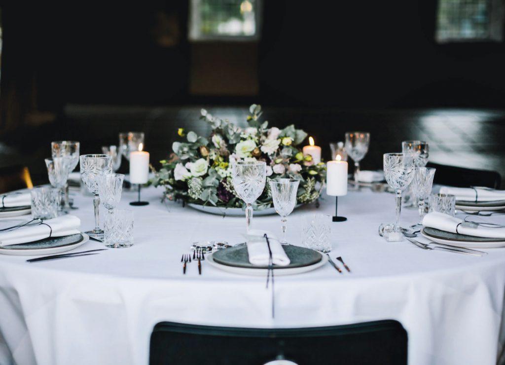 bordpynt bryllup inspiration