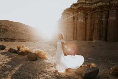 prøve brudekjoler