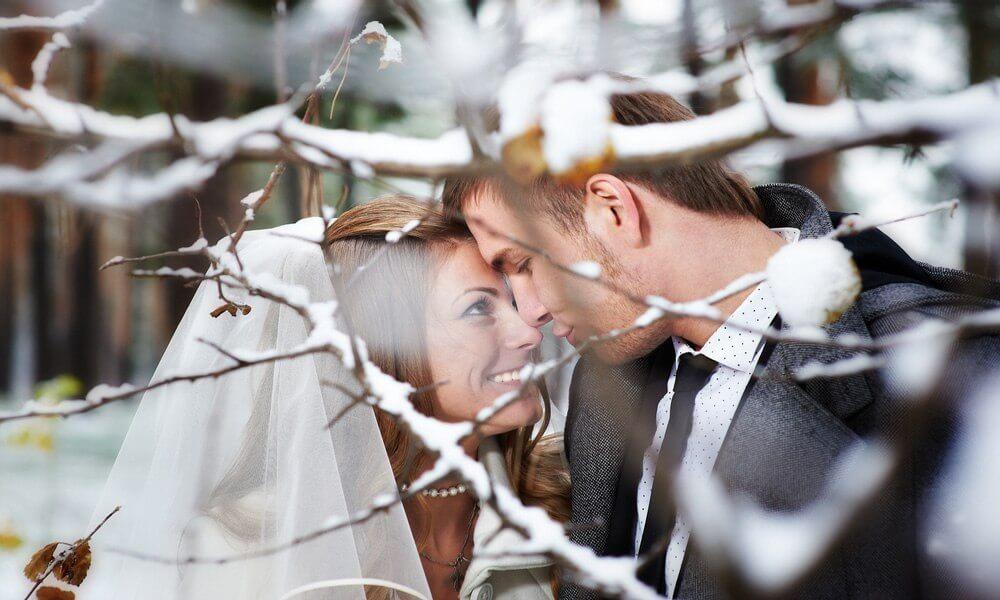 Vinterbryllup par