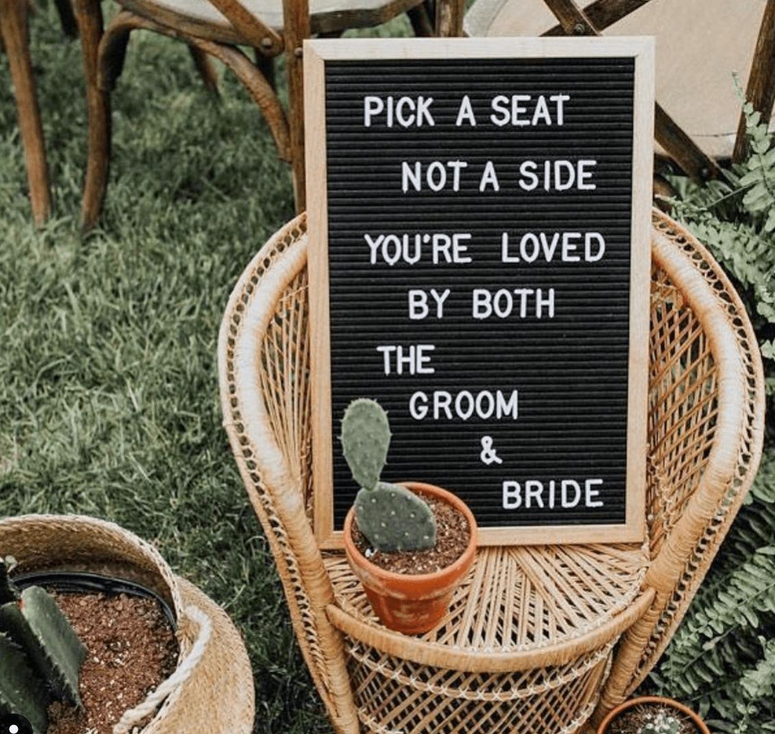 Anderledes skilt til bryllup