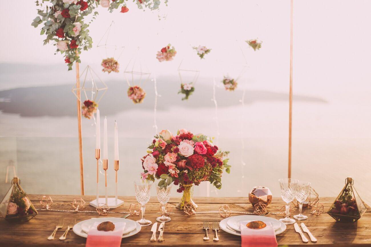boho borddækning bryllupstrends 2020
