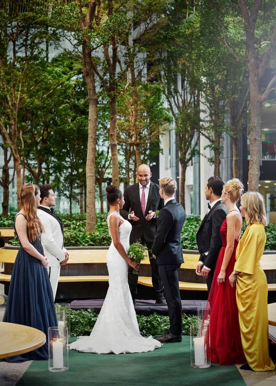 bryllupslokation i skoven